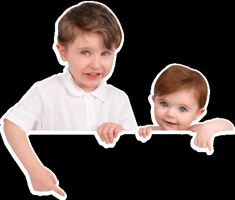 2 kids smiling